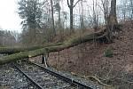 Orkán Sabine - mimořádné události na železniční síti.