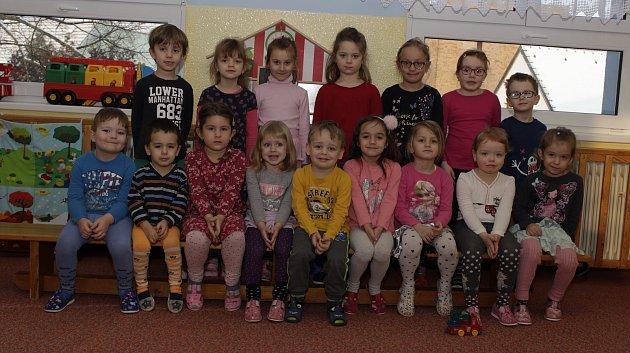 Modrá třída vMateřské škole Prachatice vZahradní ulici.