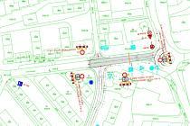 První etapa opravy - ulice Zvolenská od kruhového objezdu u nádraží na křižovatku k Hubertusu.