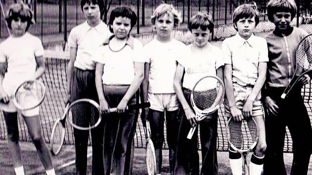 Z historie prachatického tenisu.