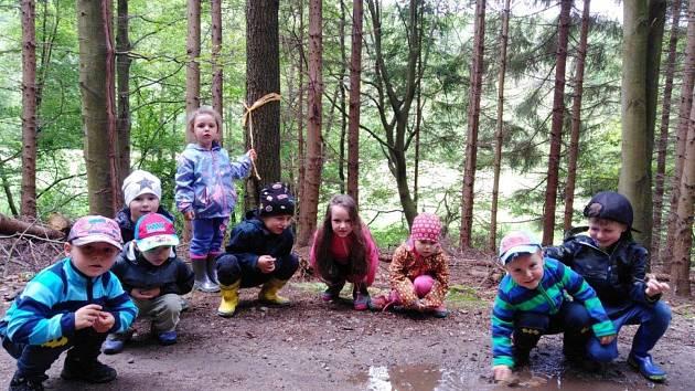 Výlet dětí z Mateřské školy ve Vitějovicích.