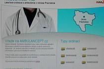 Webové stránky lékařů.
