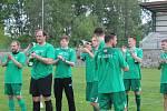 Lažišťští fotbalisté mohli po výhře nad Větřním začít slavit postup do krajského přeboru.