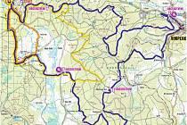 Šumavský bikemaraton se v sobotu jede na třech různých tratích. Ta nejdelší má celkové převýšení skoro 1600 metrů.