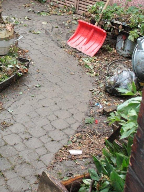 Zahrada v Solní ulici v Prachaticích.