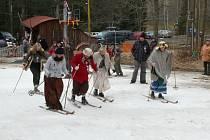 Prachatičtí lyžníci měli na Libínském Sedle třetí setkání.