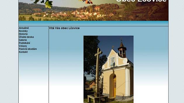 Webové stránky obce Lčovice.