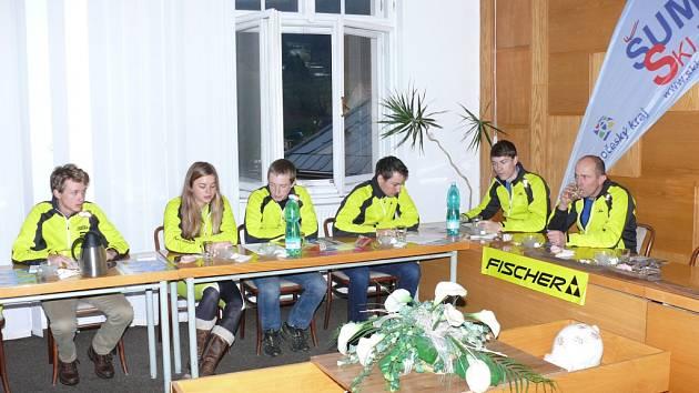 Tiskovka Fischer Ski klubu Šumava Vimperk.