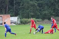 Fotbalová I.B třída: Husinec - Střelské Hoštice 2:6.