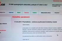 Společnost Nej.cz informovala své klienty na Prachaticku v neděli o důvodech, proč nemohou sledovat digitální programy na kabelové televizi a využívat internet.