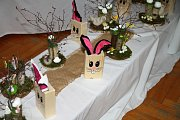 Prodejní velikonoční výstava v ZŠ Vodňanská.