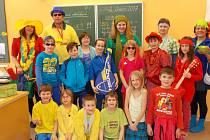 Poslední den školy před pololetními prázdninami byl velmi veselý a opravdu barevný.