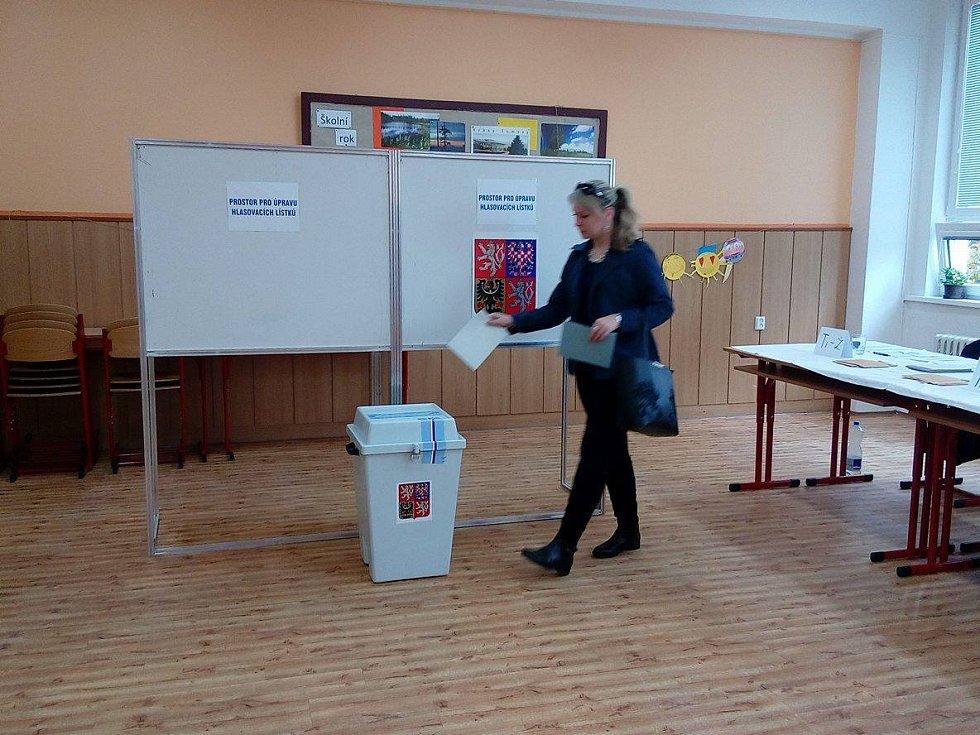 Parlamentní volby ve Vimperku - ZŠ Smetanova.