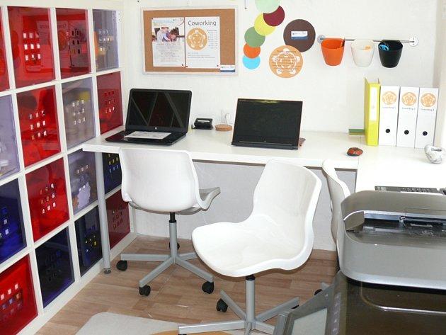 Prostor pro začínající podnikatelky vPrachaticích.