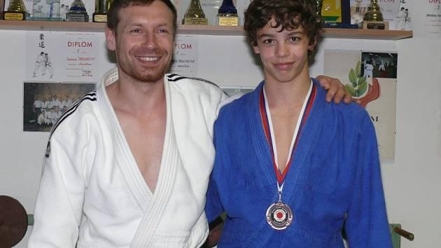 Adam Traxler s trenérem Antonínem Turkem.