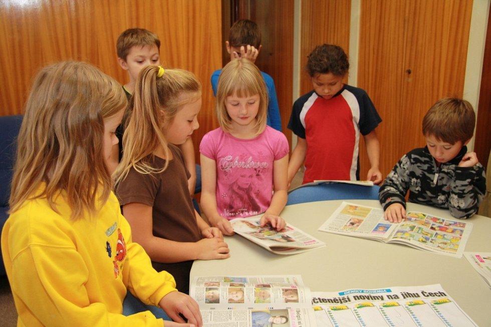 Redakci Prachatického deníku navštívili v úterý školáci ze ZŠ Vodňanská.
