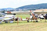 Pád letadla ve Strunkovicích nad Blanicí.