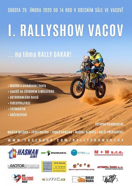 Rallyshow Vacov bude již vsobotu hostit českou dakarskou elitu