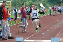 Žáci prvního stupně ZŠ soutěžili v atletice.