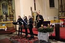 SaxWork Quartet zahrál o druhé adventní neděli ve Volarech.
