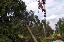 Většinu preventivních zásahů si řeší příslušné traťové okrsky. U problematických stromů nastupují hasiči se svou technikou i zkušenostmi.