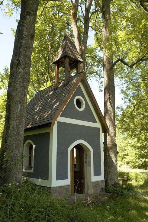 Jedna z více kaplí opravených z iniciativy prof. Kroupové.