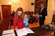 Novým občanem Prachatic se stal Sebastian Kos.