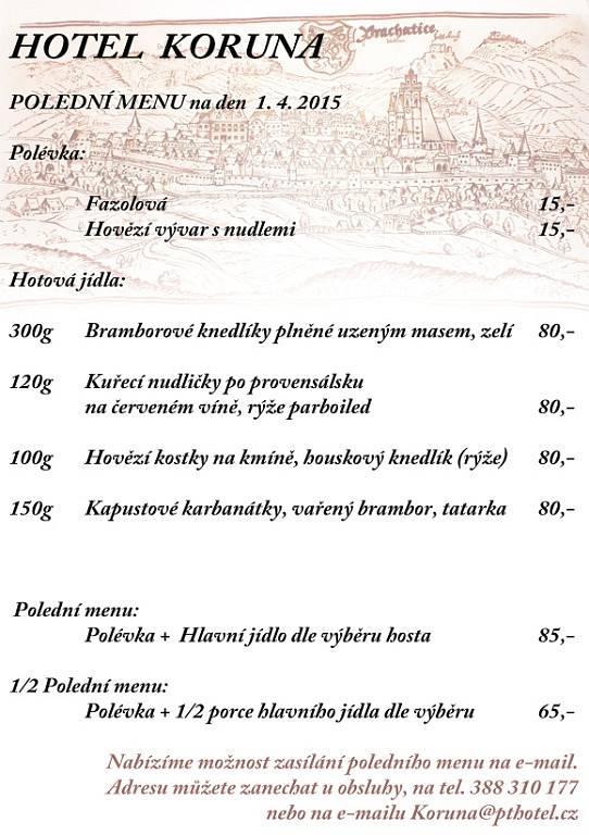 Denní nabídka - Hotel Koruna Prachatice