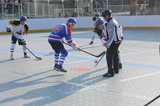 Hokejbalové hřiště v Prachaticích.