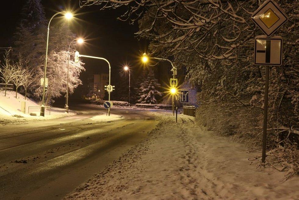 Vimperk pod sněhem.