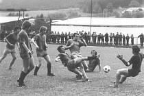 Fotbal v Prachaticích v 70. letech.