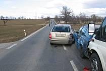 Pět vozidel naráz havarovalo na silnici z Českých Budějovic na Vodňany.