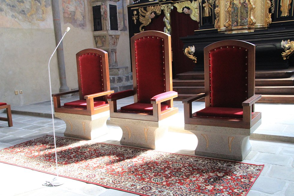 Kostel sv. Jakuba v Prachaticích po rozsáhlé rekonstrukci interiérů.