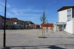 Volarské náměstí po celkové rekonstrukci.