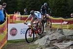 Český pohár cross country horských kol 2021 Zadov - závod Elite ženy a juniorky.
