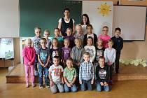 Žáci 1.B ze Základní školy ve Vodňanské ulici v Prachaticích.