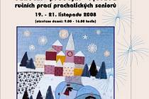 Vánoční prodejní výstava ručním prací prachatických seniorů.