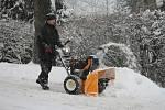Prachaticko zasypaly za dvacet čtyři hodin desítky centimetrů sněhu.