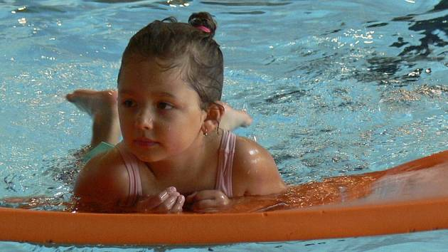 Z vany bazénu uniká velké množství vody. Za rok by množství uniklé vody stálo zhruba milion korun. Ilustrační foto.