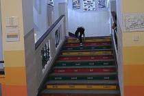 Na Vodňance se běhalo do schodů.