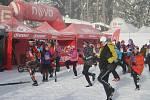 Přes tři stovky lyžařů se vydalo na 30 km klasicky v rámci 7. ročníku Kašperské 30.
