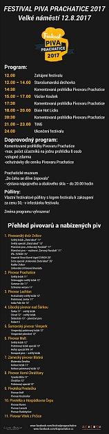 Program Festivalu piva vPrachaticích.