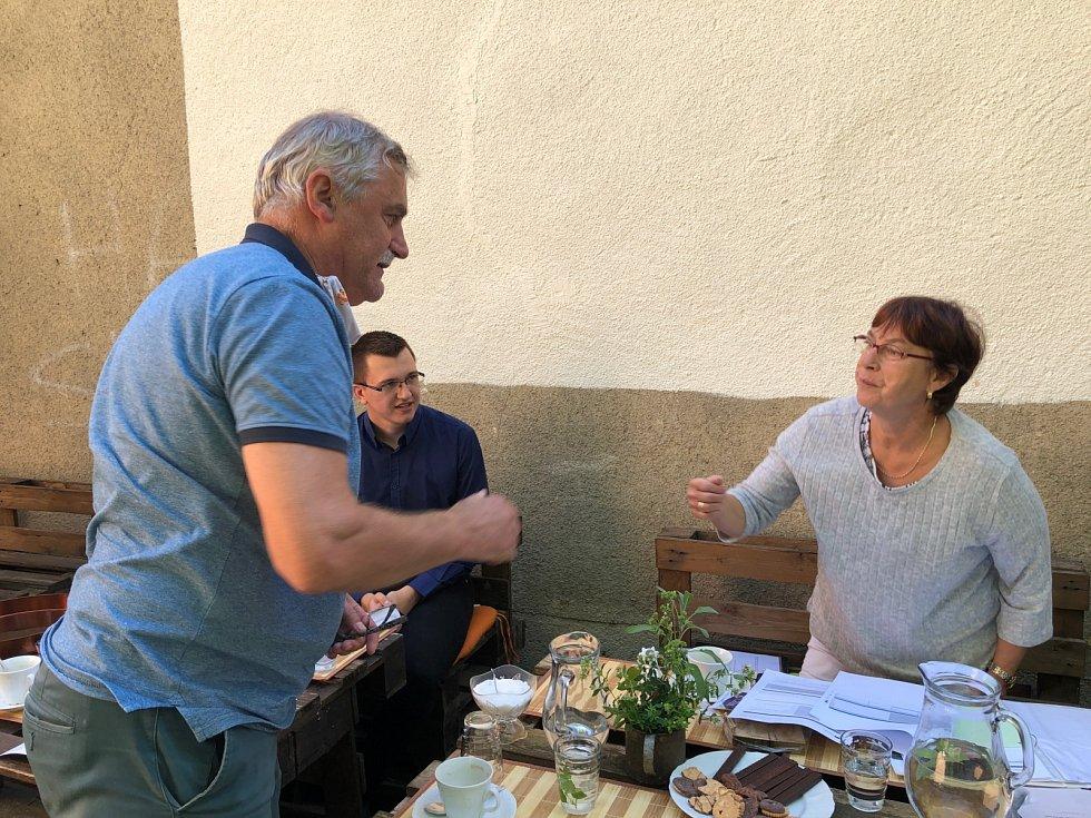 V září se uskutečnila v KreBul, o.p.s. pracovní schůzka s Andreou Wahl z Rakouského Mauthausenu.
