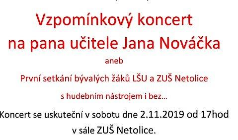 Vzpomínkový koncert na pana učitele Jana Nováčkla