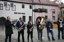 Vánoční koledy na Velkém náměstí v Prachaticích pod taktovkou Václava Franze.