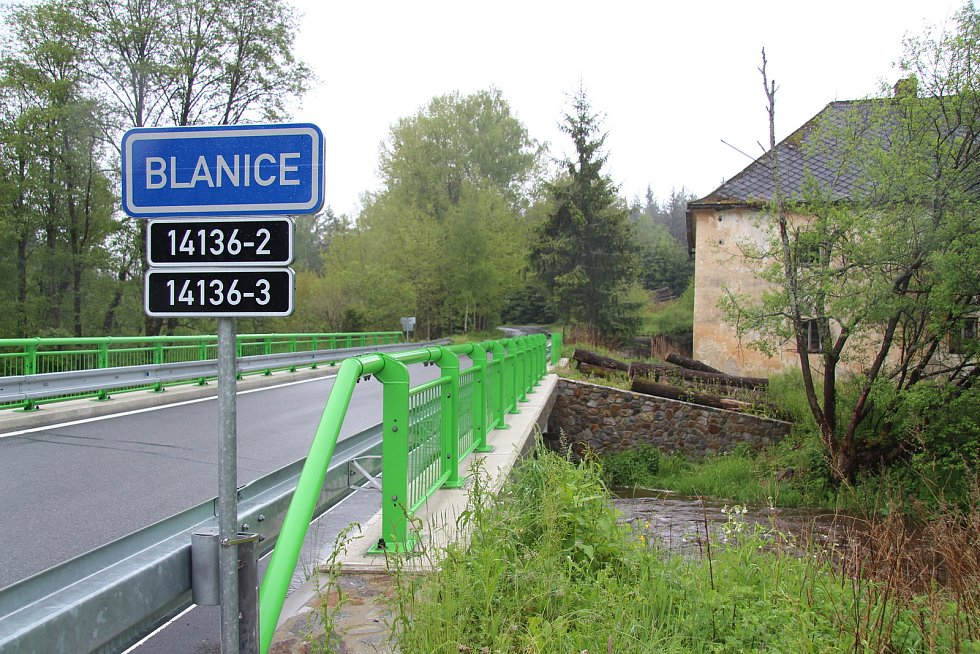 Řeka Blanice u Blanického mlýna je od středečního rána na prvním stupni povodňové aktivity.