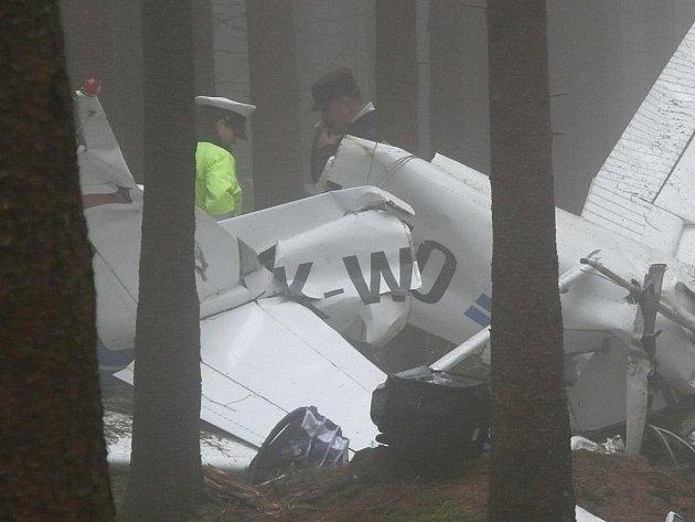 Hávárie letadla u rozhledny na Javorníku u Vacova na Prachaticku.