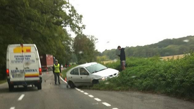 Dopravní nehoda se stala na silnici z Obory do Netolic.