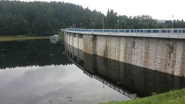 Husinecká přehrada.