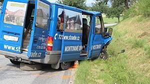 Tragická nehoda na silnici z Chocholaté Lhoty na Strunkovice nad Blanicí